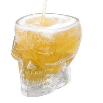New Fun Crystal Skull Head Vodka Whiskey Shot Glass Cup Drinking Ware 2.4 ounces