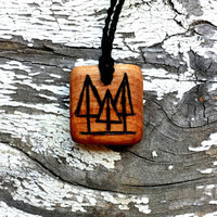 Natural Wooden Tree Pendant Necklace | The Climbing Stone