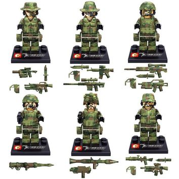 Star Wars Force Episode 1 2 3 4 5 6Pcs  Military Falcon Commandos WWII Army Soldiers Marine Corps Kids Bricks Building Blocks Compatible Legoing Toys AT_72_6