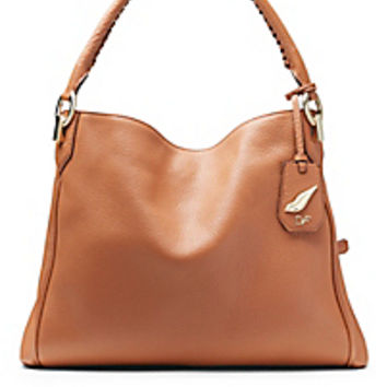 DVF Sutra Leather Shoulder Tote