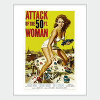 Attack Of The 50 Foot Woman Sci-Fi Poster Print - ON SALE!