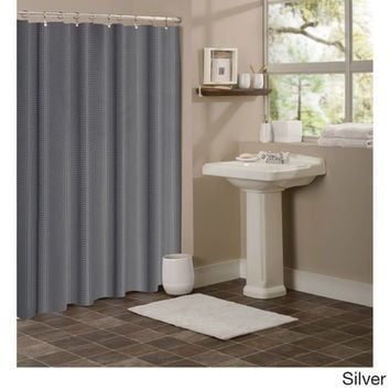 Dainty Home Hotel Collection Waffle Shower Curtain | Overstock.com Shopping - The Best Deals on Shower Curtains