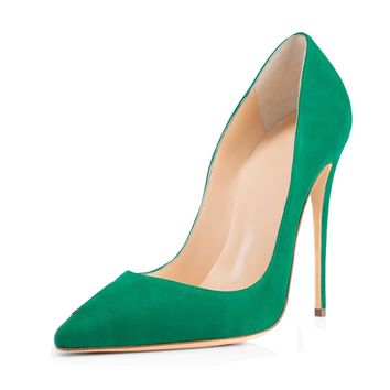 Candy Color Pointed Toe Low Cut Super High Stiletto High Heels Party Shoes