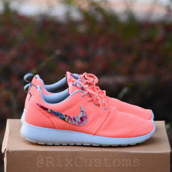ON SALE! Coral Pink Roshe Run Floral Custom by @RixCustoms