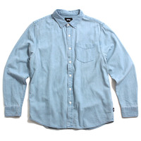 Denim Button-Up Shirt Light Blue