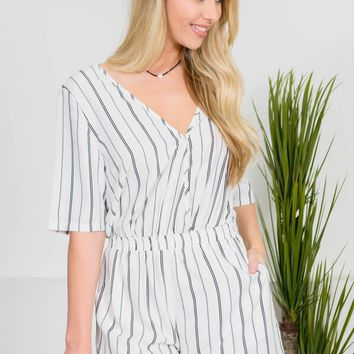 Carol Ann Striped Romper