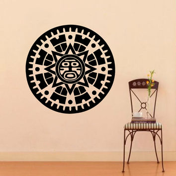 Mayan Mask  Wall Decal Vinyl Sticker Wall Decor Home Interior Design Art Murals VK90
