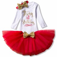 Newborn Baby Girl 1 Year Birthday Outfits Dress Infant Christening Dresses For Girls Wedding Baptism Clothes Baby Born Clothing