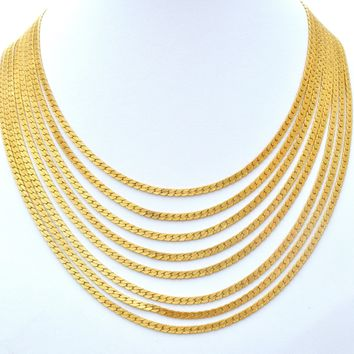 Monet Multi Strand Gold Tone Bib Vintage Necklace