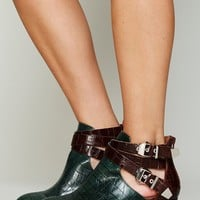 Free People Overland Croc Ankle Boot