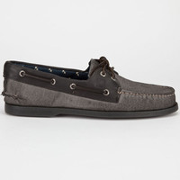 Sperry Top-Sider Burnished Canvas Authentic Original Mens Boat Shoes Burnished Grey  In Sizes