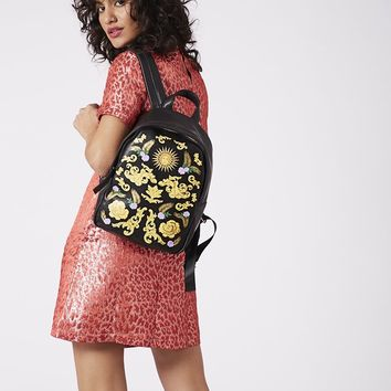 Gold Baroque Backpack