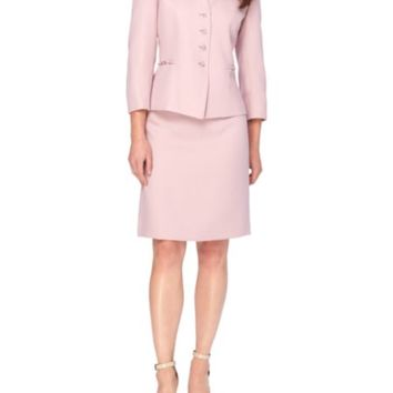 Tahari Arthur S. Levine - Two-Piece Patterned Jacket and Skirt Set