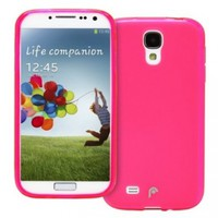 Fosmon DURA Frost SLIM-Fit Case Flexible TPU Cover for Samsung Galaxy S4 SIV S IV - i9500 (Pink)