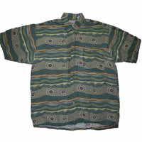 Vintage 90s Bugle Boy Short Sleeve Button Up Shirt Mens Size XL