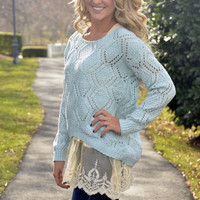 Charmed Life sweater, blue