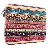 """Laptop Sleeve, Mosiso Bohemian Style Canvas Fabric 12-Inch Sleeve Case Bag Cover for the New MacBook 12"""" with Retina Display A1534, Mystic Forest"""