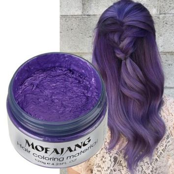 Natural Seven Colors Products Hair Color Wax Dye One-time Molding Paste Hair Dye Wax Harajuku Style Styling Cream New Free Ship