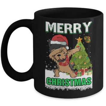 DCKIJ3 Cute Yorkshire Terrier Claus Merry Christmas Ugly Sweater Mug