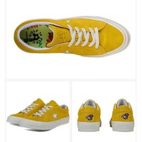 Best Deal Online Nike Converse One Star x Golf le Fleur 159434C Yellow Men Women Sneaker Sport Shoes