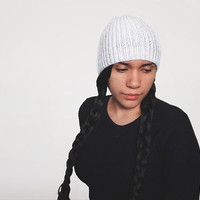 the vegan torse beanie in snow white
