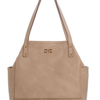 Verona-Shopper Handbag-Sand
