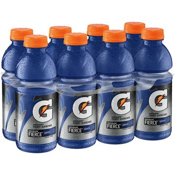 Gatorade Thirst Quencher, Fierce Grape, 8 Count, 20 fl oz Bottles - Walmart.com