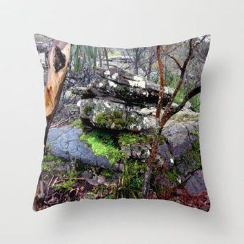 Volcanic Rock Throw Pillow by Chris Chalk