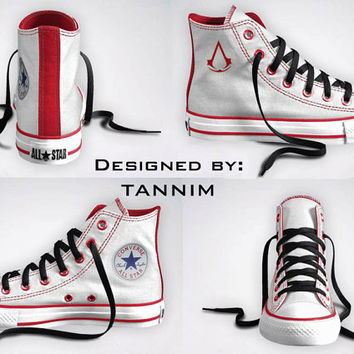 Custom Assassin's Creed Converse Chucks by Tannim on Etsy