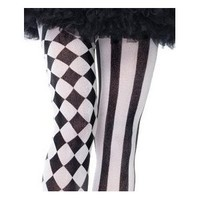 Leg Avenue Harlequin Stripe and Checkered Tights Joker Gothic Punk Emo Psychobilly Halloween