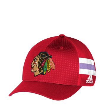 Men's Chicago Blackhawks adidas 2017 Hockey Fights Cancer Structured Flex Hat
