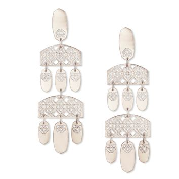 Kendra Scott - Emmet Silver Filigree Statement Earrings