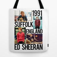 Suffolk 91 (Ed Sheeran) Tote Bag by dan ron eli