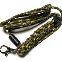 Mens Lanyard, Paracord Lanyard, Camo Lanyard, Paracord Badge Holder, Breakaway Lanyard, Paracord Id Badge, Cord Adjuster,  Id Badge, Badge