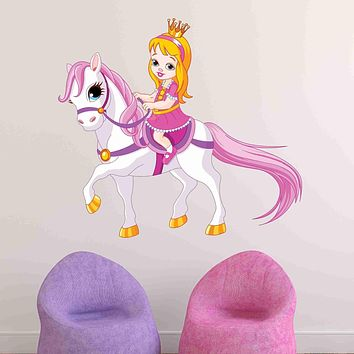 Princess on Pony Wall Decal