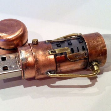 Steampunk 16GB USB Flash Drive Model 268  in a by BasementFoundry