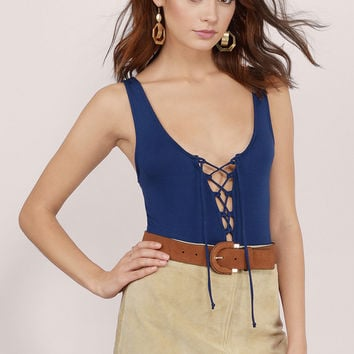 Into You Lace Up Bodysuit