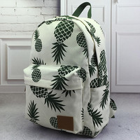 pineapple printed backpack school book bag