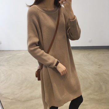 Loose thin thick knitted dress