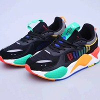 PUMA RS-X popular fashion accessory with vintage sneakers in patchwork colors