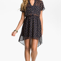 Lush Lace Yoke Chiffon Dress (Juniors) | Nordstrom