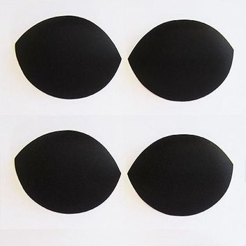 Black Oval Replacement Bra Inserts - 2 pair