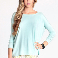 Stand Strong Oversized Top in Mint - $32.00 : ThreadSence.com, Free-spirited fashion for the indie-inspired lifestyle