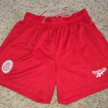 Sale!! Vintage 1990's Reebok Liverpool FC Home Soccer Shorts LFC Football Jersey Shirt
