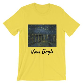 Vincent Van Gogh Starry Night Over the Rhone Short-Sleeve Unisex T-Shirt
