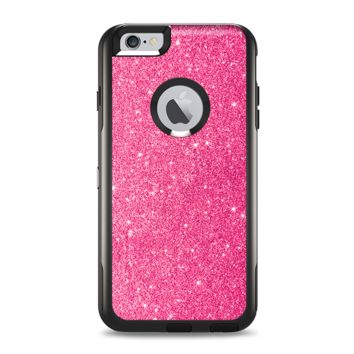 The Pink Glitter Ultra Metallic Apple iPhone 6 Plus Otterbox Commuter Case Skin