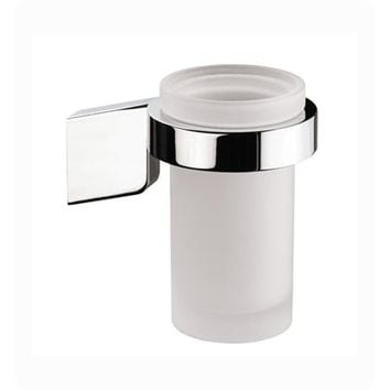 Sonia S3 Wall Mounted Frosted Glass Toothbrush Toothpaste Holder Tumbler, Brass