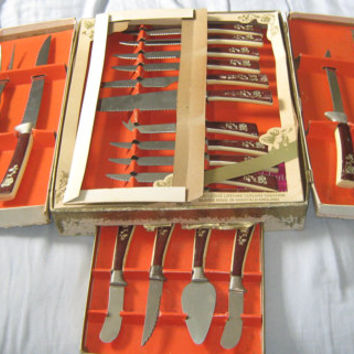 Vintage 1960s Sheffield England Lfietime Stainless Steel 19 Piece Knife Set - New in the Box