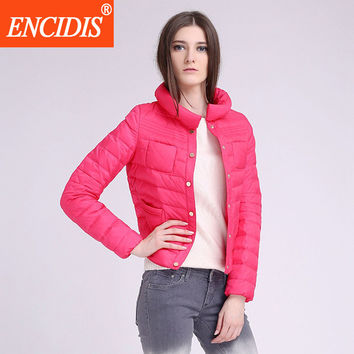 Plus Size 2016 New Short Thin Women's Winter Coat  Coats Female Parka Standed Collar Winter Jackets Women Duck Down Coat Y232