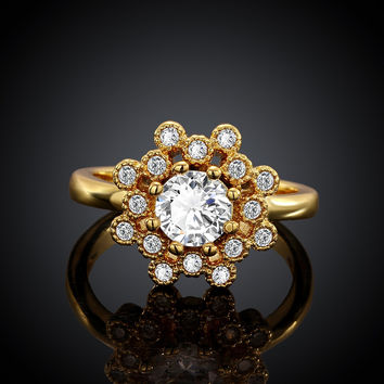 Starry Night Gold Plated Ring